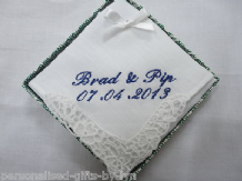 Personalised Irish Linen Ladies Handkerchief Gift Boxed